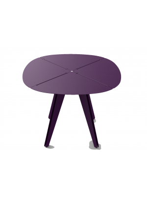 Table carrée Loom aluminium aubergine