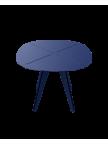 Table carrée Loom aluminium bleue