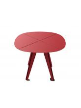 Table carrée Loom aluminium rouge