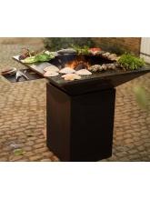 Barbecue BQII Carré Charbon de bois