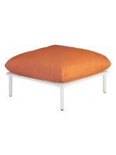 Pouf Blanc Beach Orange