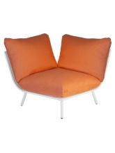Module d'angle Blanc Beach Orange