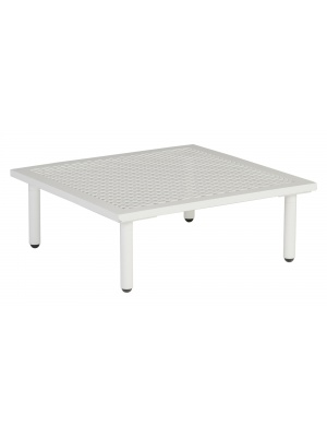 Table basse carrée Beach Blanc