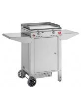Plancha Chef 55 Plaque inox lisse et Chariot