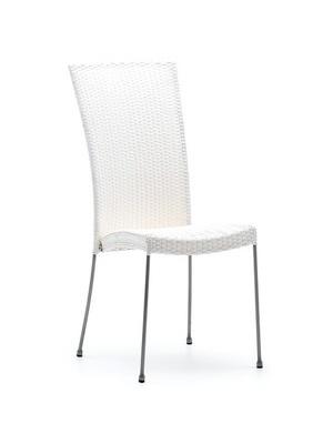 Chaise résine tressée Saturn blanc
