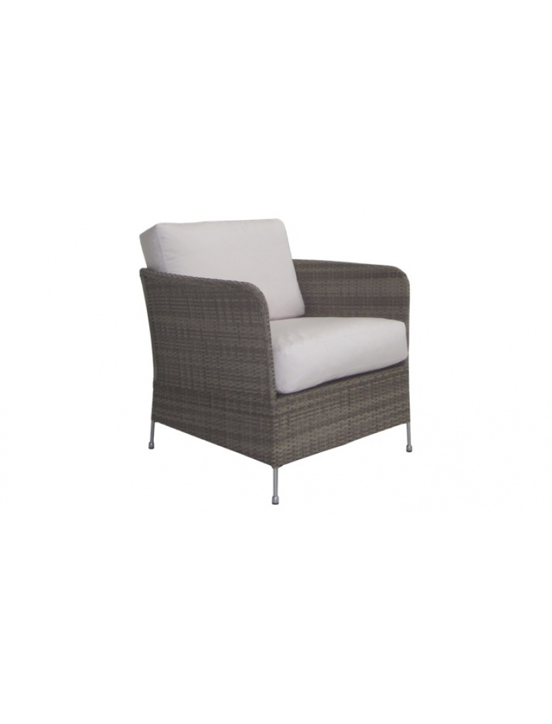Sika Design Fauteuil Orion taupe avec coussin Avec coussin blanc