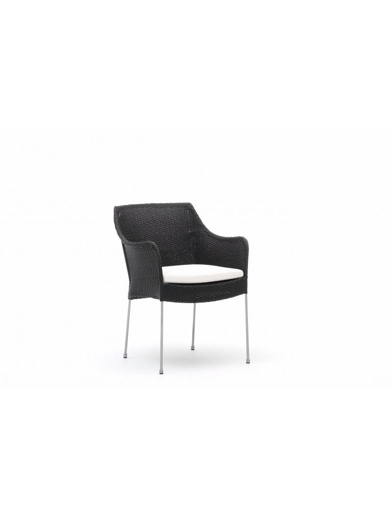 Sika Design Fauteuil Venus noir Avec coussin blanc