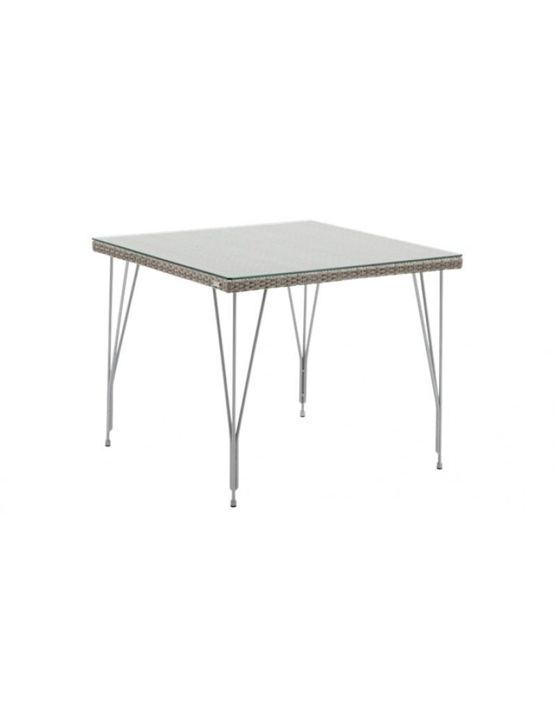 Sika Design Table carrée Jupiter taupe plateau de verre