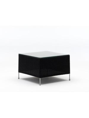 Table basse Orion noir avec plateau en verre