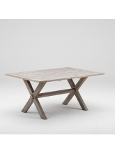 Table en tek Colonial 160 cm