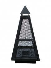Foyer Pyramide en acier noir