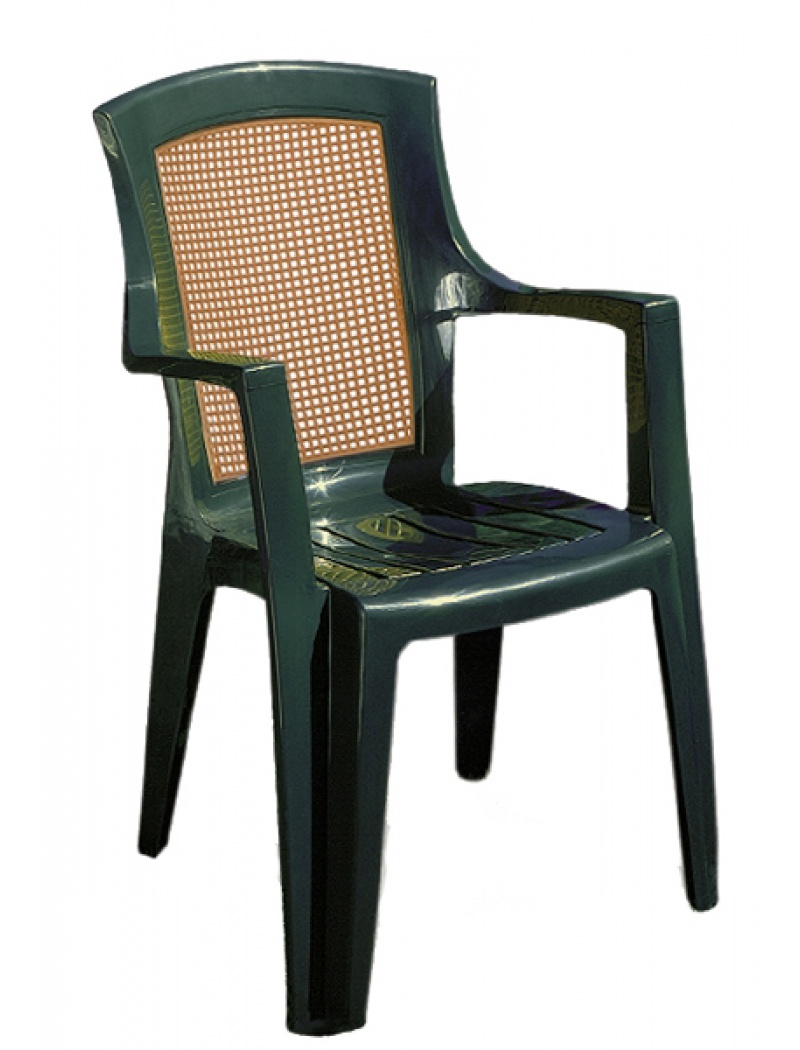 alpina garden fauteuil de jardin en plastique vert viola wood. Black Bedroom Furniture Sets. Home Design Ideas