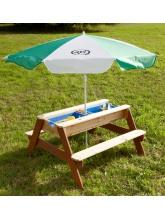 Table de pique-nique sable et eau
