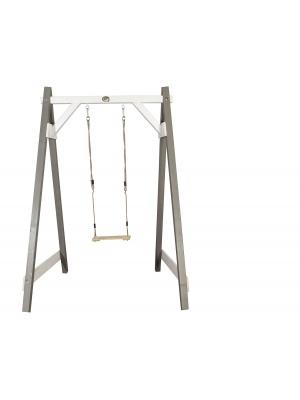 Portique une balançoire en pin gris