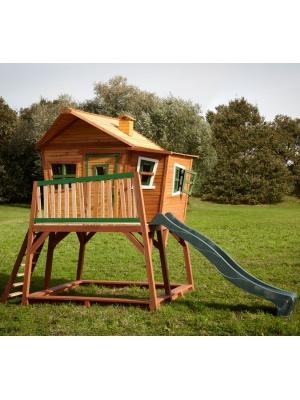 Cabane de jeu Max en cèdre vernis naturel