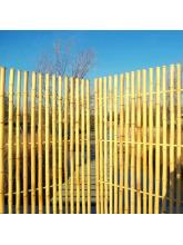 Panneau bambous espacés naturel régulier