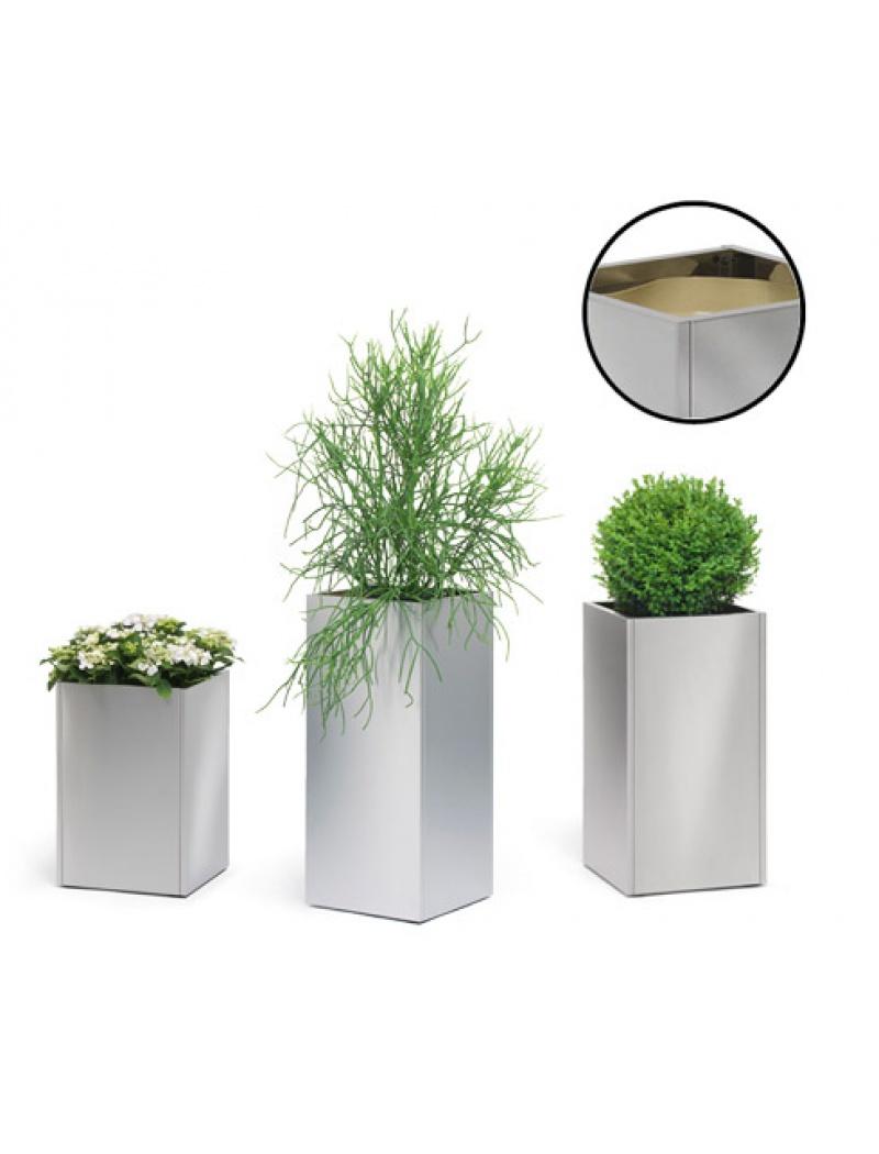 pot de fleurs bac plantes blomus en inox. Black Bedroom Furniture Sets. Home Design Ideas
