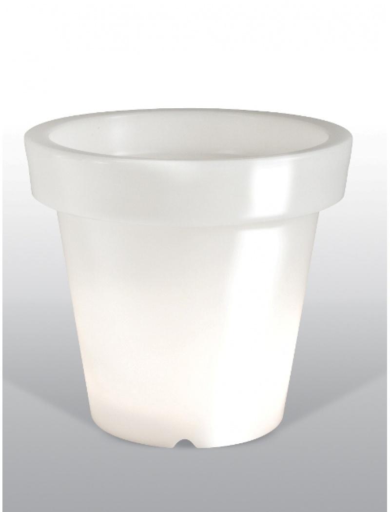 Pot lumineux Blanc Hauteur 90 cm