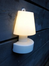 BLOOM lampe murale portable blanche