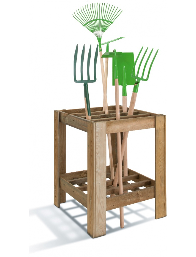 Burger Jardipolys Range-outils en bois