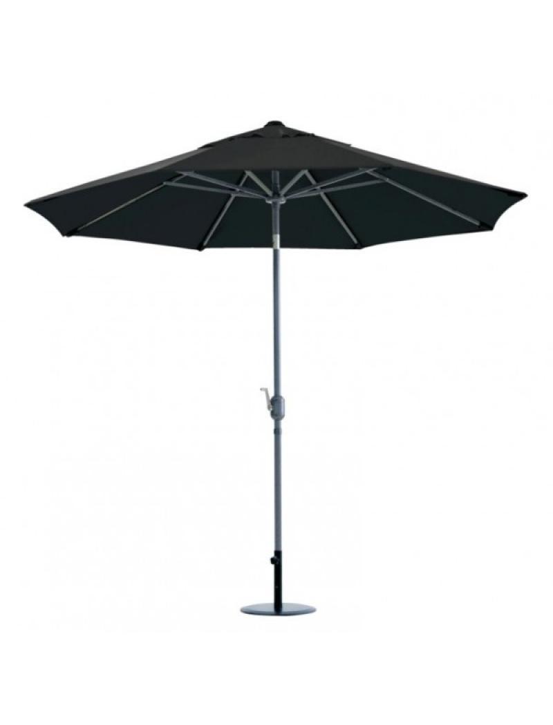 Parasol rond aluminium Ø2,7m noir