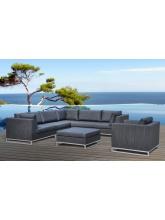 Salon de jardin Ibiza Gris anthracite