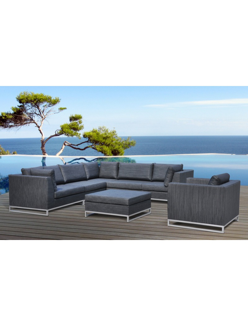 salon de jardin ibiza gris anthracite delorm salons de. Black Bedroom Furniture Sets. Home Design Ideas