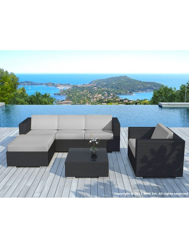 Beautiful Salon De Jardin Copacabana Coussin Noir Contemporary ...