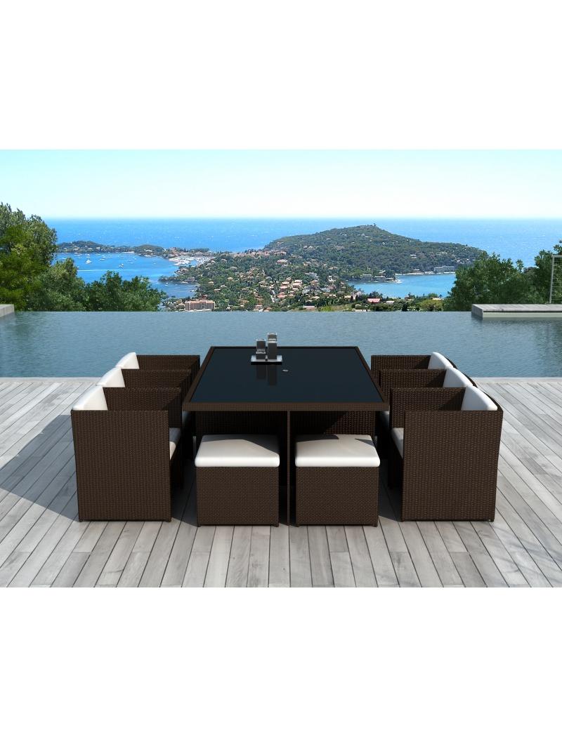 salon de jardin canc n r sine tress e chocolat delorm tables en r sine tress e jardin concept. Black Bedroom Furniture Sets. Home Design Ideas
