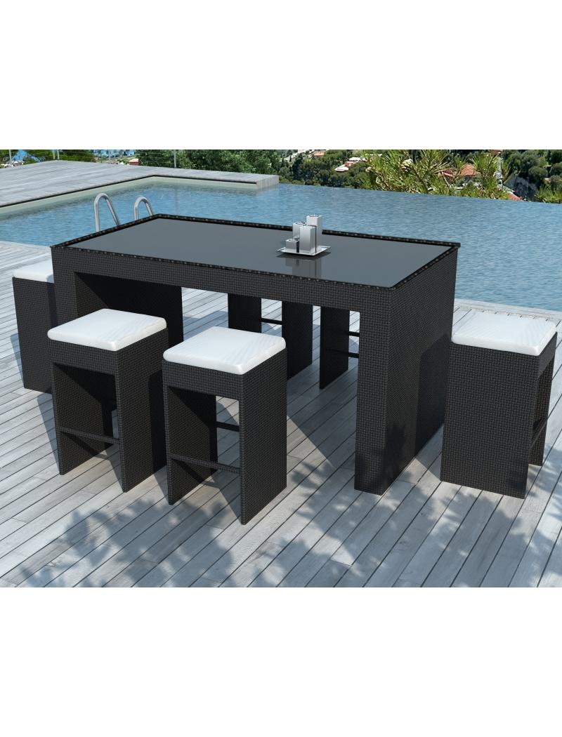 Bar de jardin : modèle Barrio en résine tressée de Delorm Design