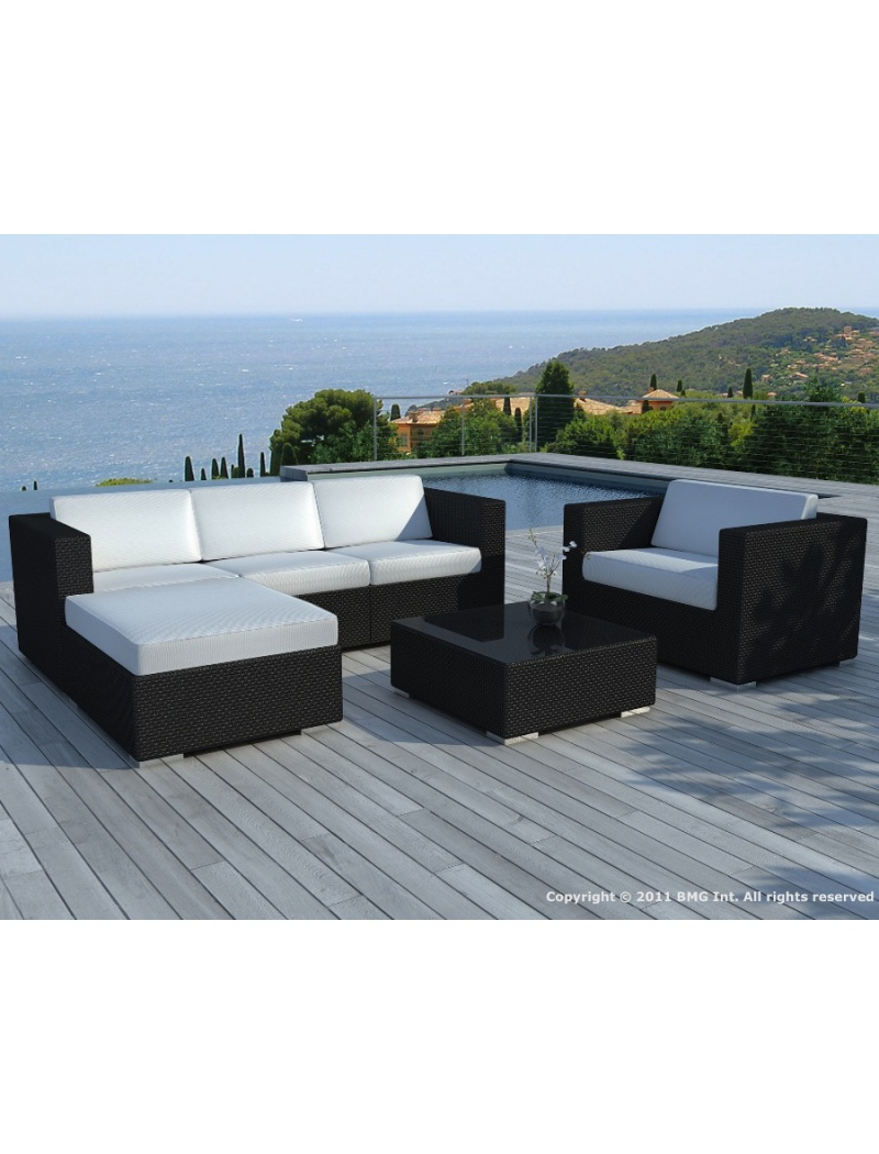 Salon De Jardin En R Sine Tress E Ensemble Copacabana # Table De Jardin Resine Noir