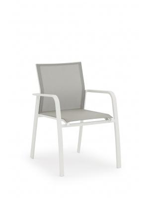 Lot de 2 fauteuils Nice en aluminium