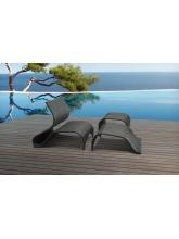 Bain de soleil + table basse Vanuatu résine tressée
