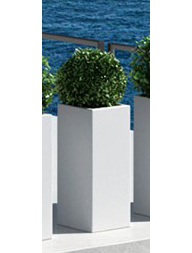 Pot de fleurs Kube High Blanc Euro3plast - Pot de fleurs à ...