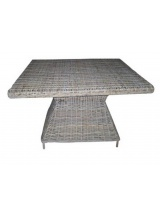 Table carrée 120 cm en kubu naturel