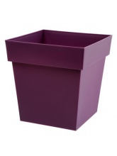 Pot Toscane carré 38L Prune