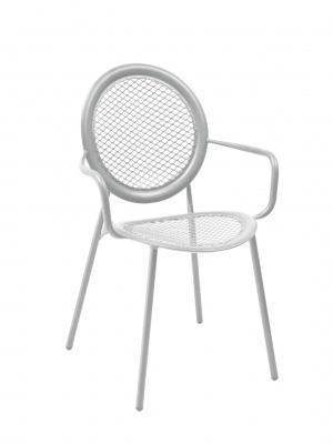 Lot de 4 fauteuils Antonietta gris aluminium