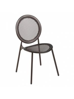Lot de 4 chaises Antonietta marron d'Inde