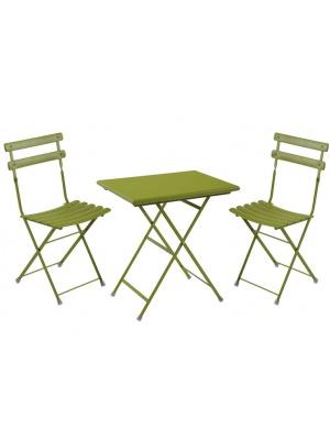 Ensemble arc en ciel table + 2 chaises coloris vert