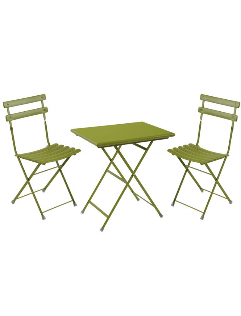Salon de jardin Emu : table et chaises arc en ciel coloris vert de Emu