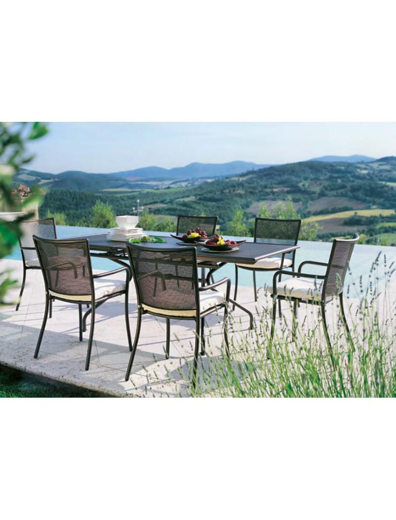 EMU Table de jardin Athena 160 + 8 fauteuils