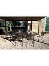 Table de jardin Athena  160 + 8 fauteuils