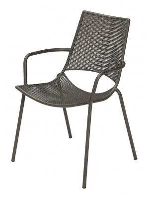 Lot de 4 fauteuils de jardin Ala marron d'Inde