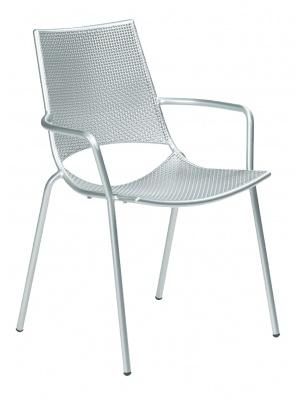 Lot de 4 fauteuils de jardin Ala gris aluminium