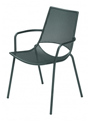 Lot de 4 fauteuils de jardin Ala fer ancien