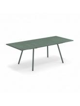 Table rectangulaire extensible Bridge verte foncée