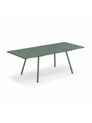 Table rectangulaire extensible Bridge verte foncée