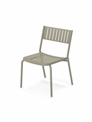 Lot de 4 chaises Bridge gris vert