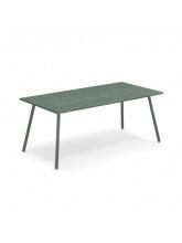 Table rectangulaire Bridge 180 cm vert foncée