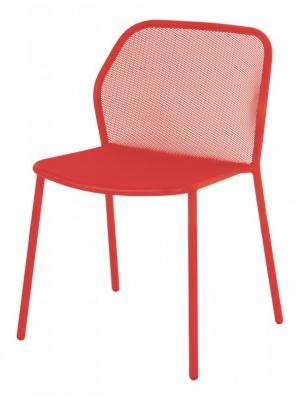 Lot de 4 chaises Darwin rouge écarlate